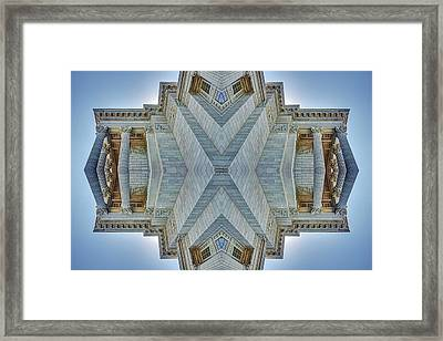 Framed Print featuring the photograph Missouri Capitol - Abstract by Nikolyn McDonald