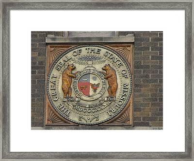 Missouri Great Seal Framed Print
