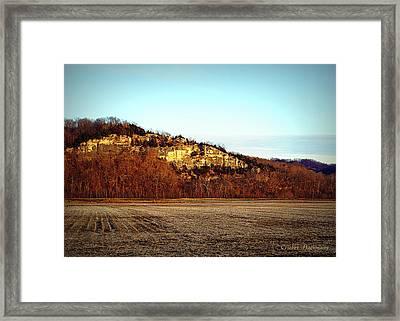 Missouri Limestone Bluffs Framed Print