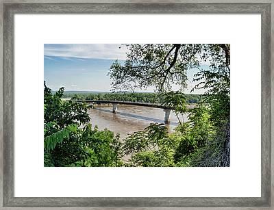 Missouri River At Hermann Framed Print