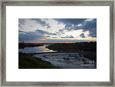 Missouri River Black Eagle Falls Mt Framed Print