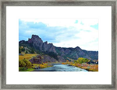 Missouri River Colors Framed Print