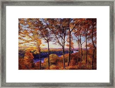 Missouri River In Fall Framed Print