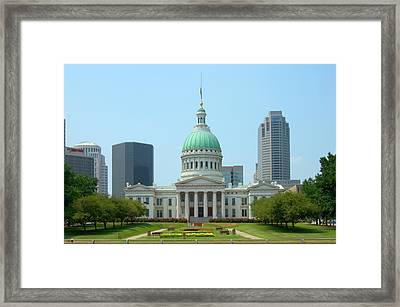Framed Print featuring the photograph Missouri State Capitol Building by Mike McGlothlen