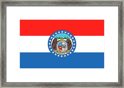 Missouri State Flag Framed Print by American School