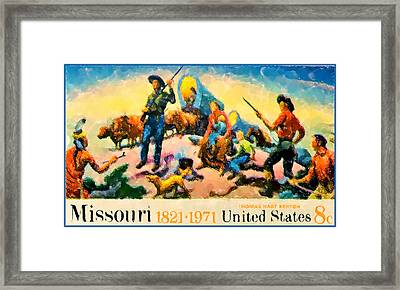 Missouri Statehood Sesquicentennial Framed Print by Lanjee Chee