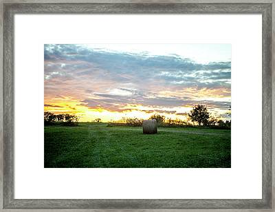 Framed Print featuring the photograph Missouri Sunset by Wade Courtney