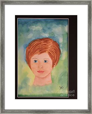 Framed Print featuring the painting Missy by Donald Paczynski