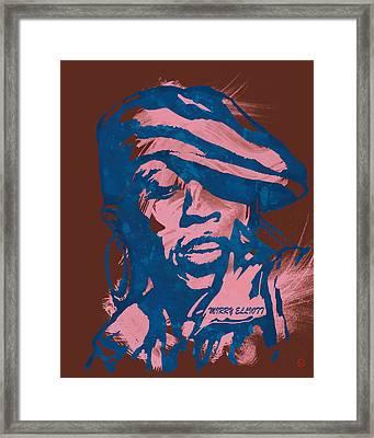 Missy Elliott Pop Stylised Art Sketch Poster Framed Print