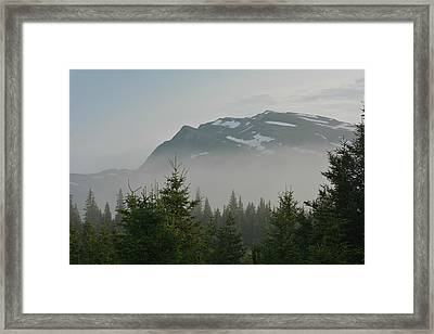 Mist And Mountains Framed Print
