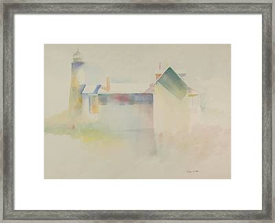 Mist At Pemaquid Light Framed Print by Catherine ONeil