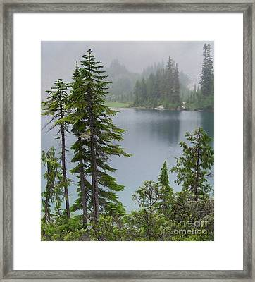 Mist At Snow Lake Framed Print by Charles Robinson