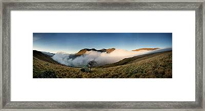 Mist In Nant Gwynant Framed Print