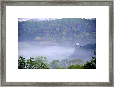Mist In The Valley Framed Print