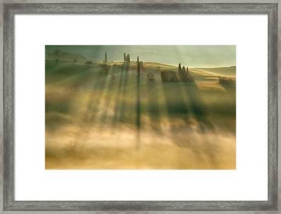 Mist Framed Print by Krzysztof Browko
