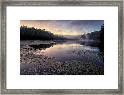 Bass Lake Sunrise - Blue Ridge Parkway Framed Print