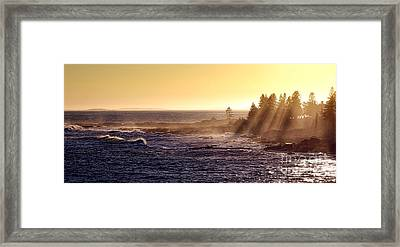 Mist Off The Coast Of Maine Framed Print