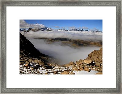 Mist On Ardiden Range Framed Print by Frederic Vigne