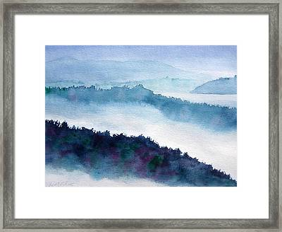 Mist On Howe Sound Framed Print by Pat Vickers