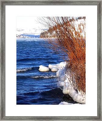 Mist On Kalamalka Framed Print
