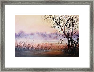 Mist On The River Framed Print