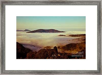 Mist Over Apuseni Framed Print by Gabriela Insuratelu