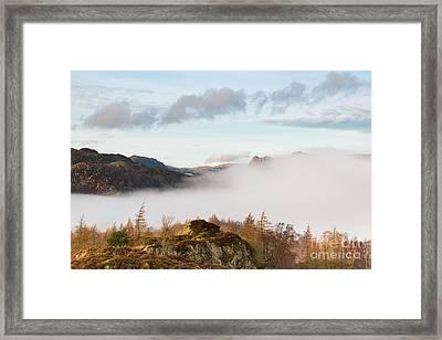 Mist Over Hodge Close Framed Print