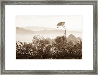 Mist Over Kalogria Framed Print