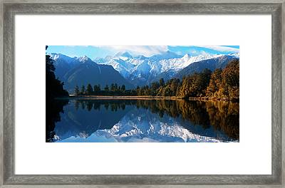Mist Over Lake Matheson Framed Print