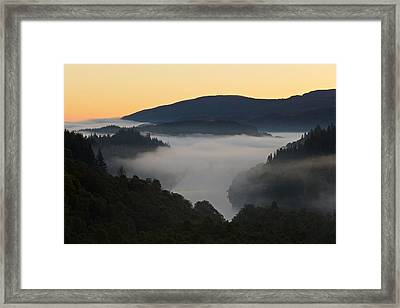 Mist Over Loch Achray Framed Print