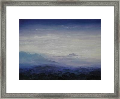 Mist Over The Mountains Framed Print by Jeff Knott