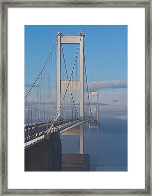 Mist Over The Severn Framed Print by Brian Roscorla