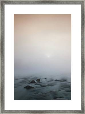 Mist Over The Third Stone From The Sun Framed Print