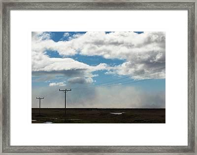 Mist Over Vestmannaeyjar Framed Print by Sidsel Genee