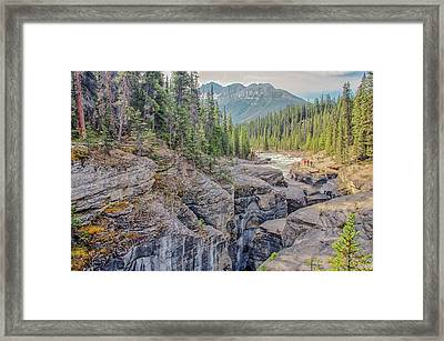 Framed Print featuring the photograph Mistaya Canyon by Jim Dollar
