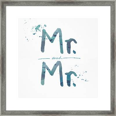 Mister And Mister  Framed Print