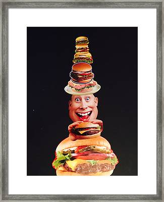 Mister Cheese Burger Framed Print by Douglas Fromm