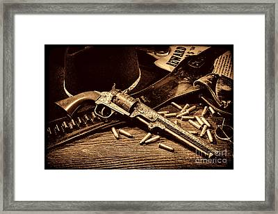 Mister Durant's Revolver Framed Print by American West Legend By Olivier Le Queinec