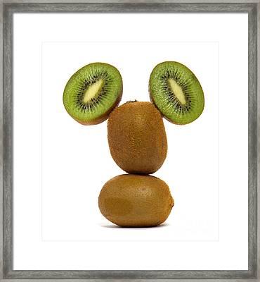 Mister Kiwi Framed Print by Olivier Le Queinec