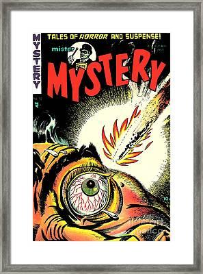 Mister Mystery Comic Book Cover Framed Print