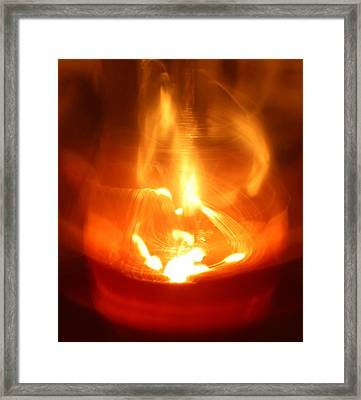 Mistic Candle Framed Print by Joshua Sunday