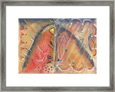 Mistic Cave Framed Print by Sheri Jo Posselt