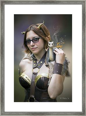 Mistress Of Dragons Framed Print by Brian Wallace