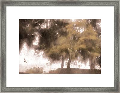 Mists Begin To Lift Framed Print