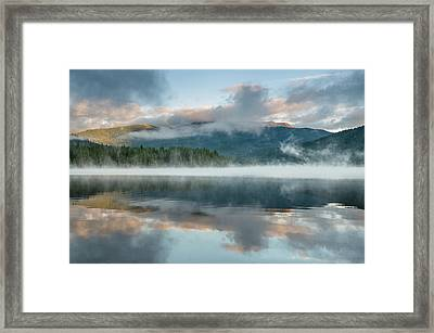 Mists Of The Summer Dawn Framed Print by Greg Nyquist