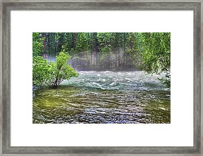 Mists Over The King's River Framed Print