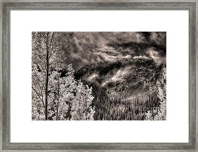 Mists Upon The Crest Framed Print