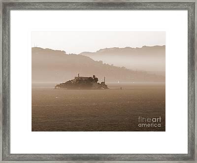 Misty Alcatraz Framed Print by Carol Groenen