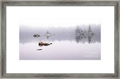 Misty Algonquin Morning Framed Print