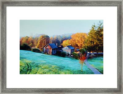 Framed Print featuring the photograph Misty Autumn Day by Diane Alexander